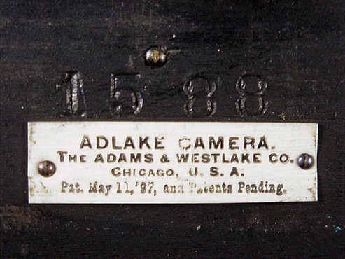 Adlake Camera Makers Plaque