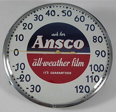 Ansco Advertising Thermometer