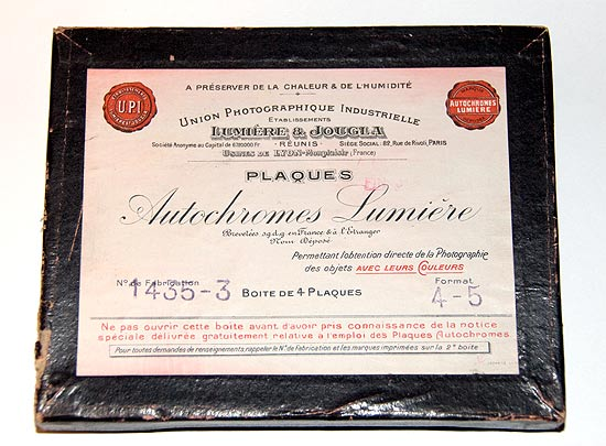 Box of 4x5 inch Autochrome Plates
