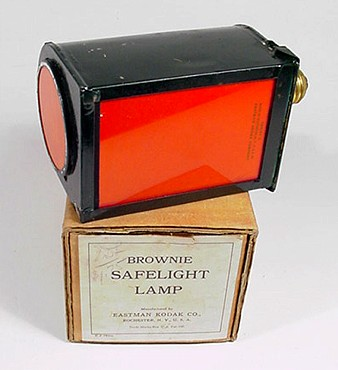 Brownie Safelight Lamp and Box