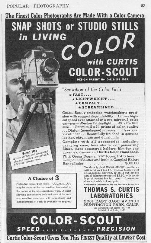 1939 Curtis Color-Scout Advertisement