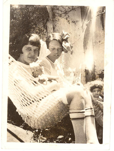 Snapshot of Two Young Ladies on Hammock