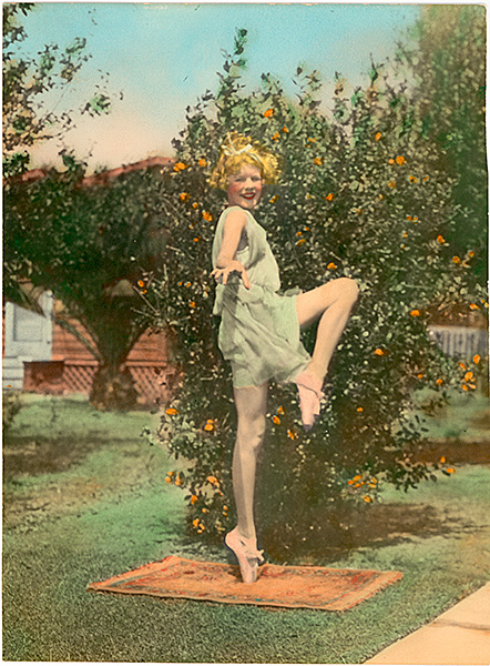 hand-colored photograph of a dancer
