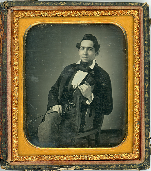 Daguerreotype of Man With a Switch
